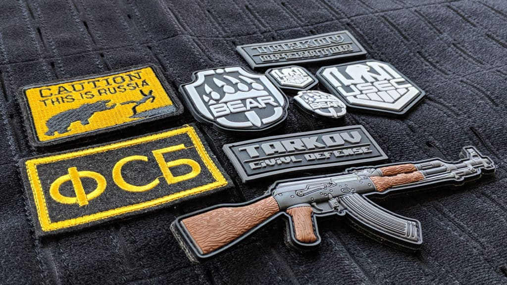 team airsoft patches