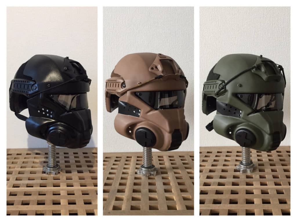 custom made airsoft helmets