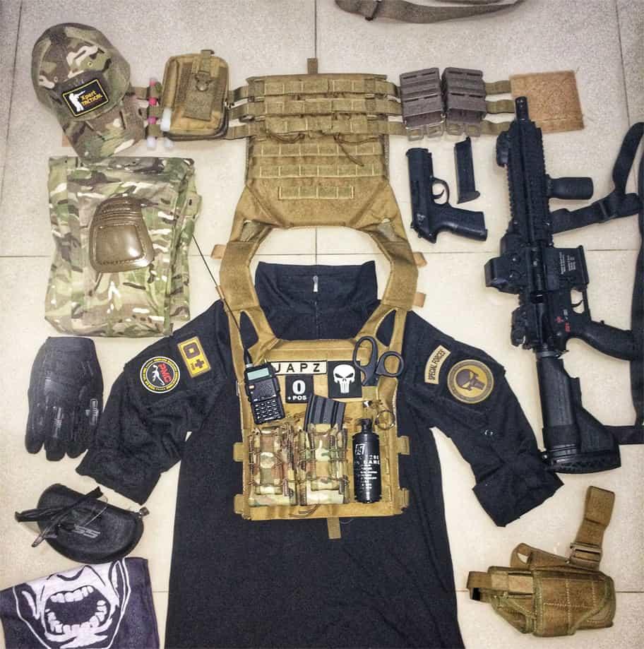 tactical vest setup