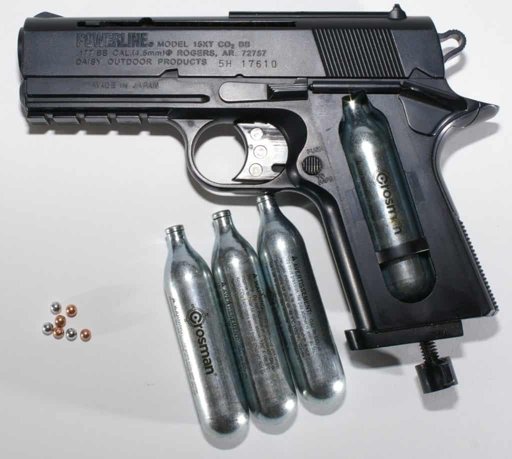 gas powered airsoft pistol