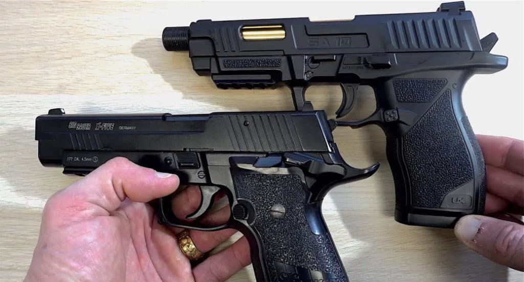 two airsoft pistols