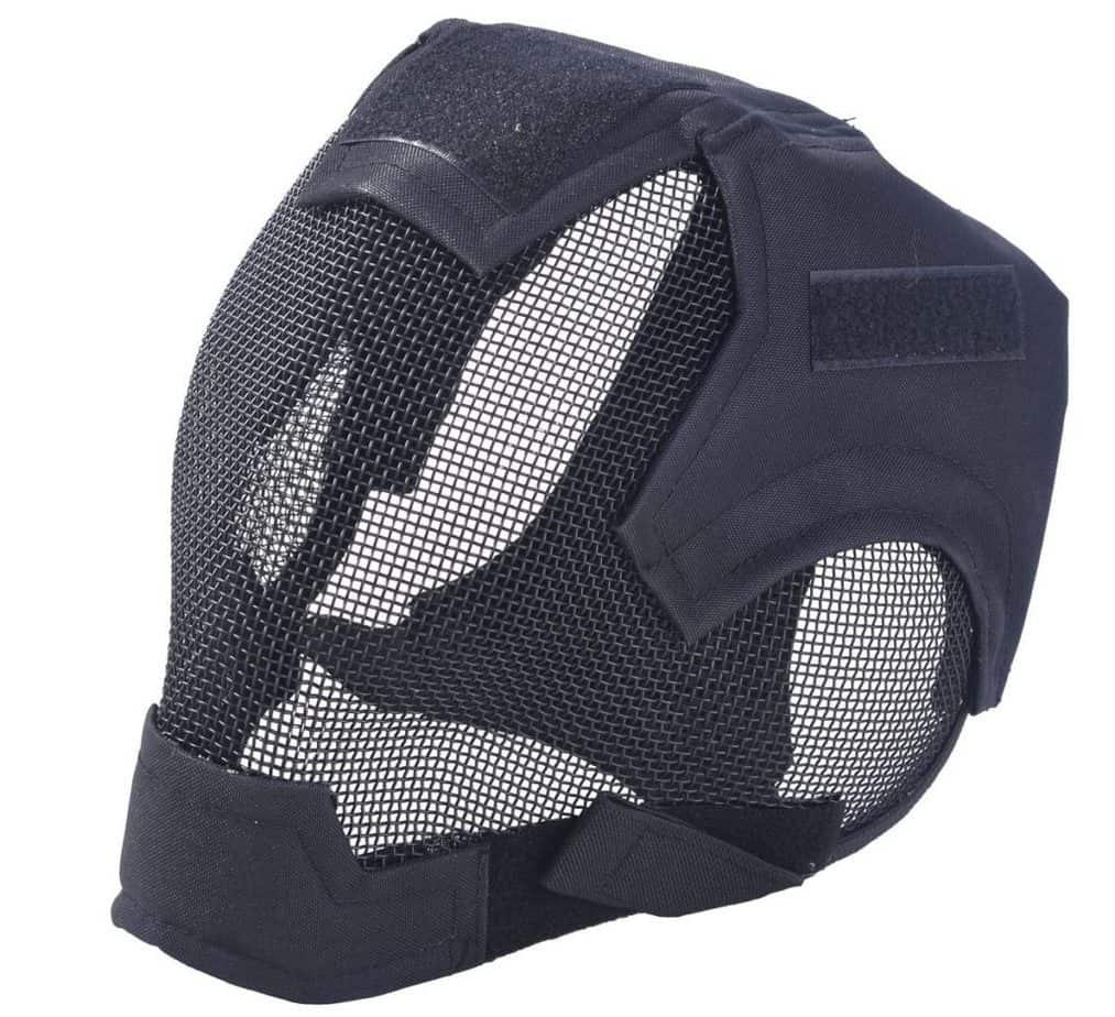 side view of mesh helmet