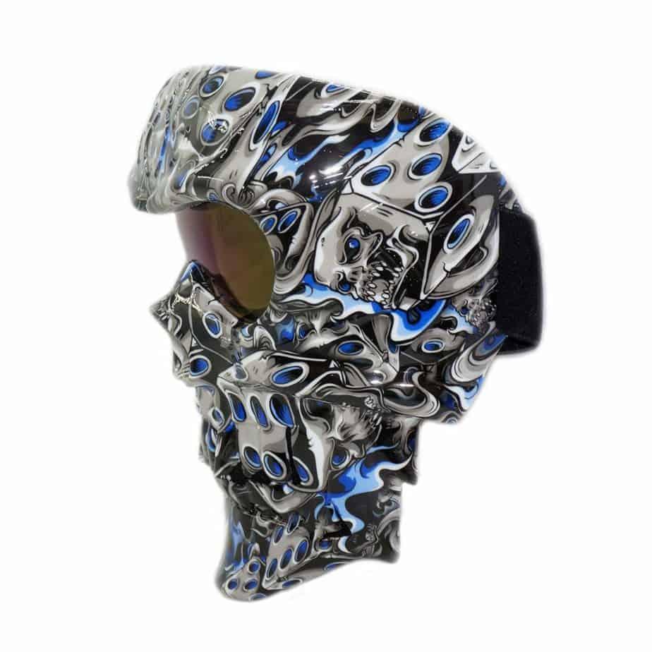 skull mask side view